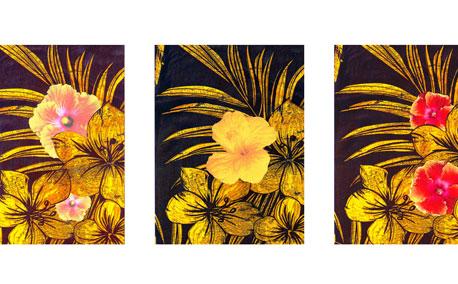 Pua Aloalo Triptych